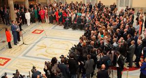Los Reyes se reúnen con representantes de las entidades sociales