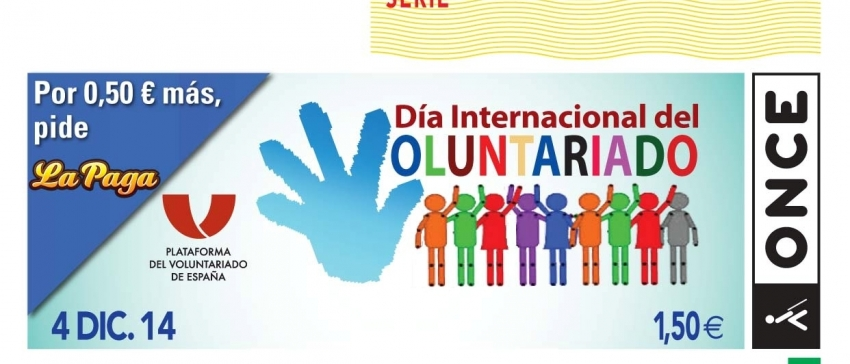 Cupón del Día Internacional del Voluntariado