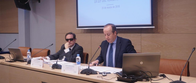 Sesión informativa sobre la Ley del Tercer Sector que ha organizado la Plataforma del Tercer Sector y el Consejo General de la Abogacía Española