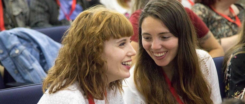 Jóvenes participando en el Congreso de Participación 2019 en Santiago de Compostela