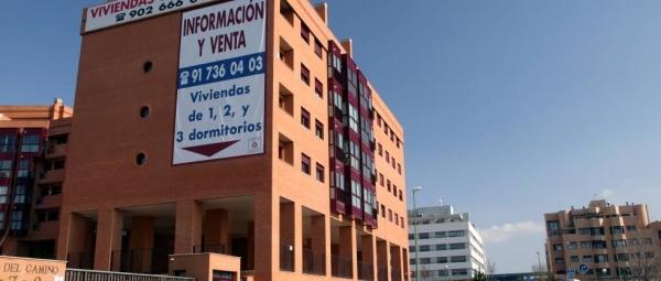 Viviendas en venta en un barrio de Madrid