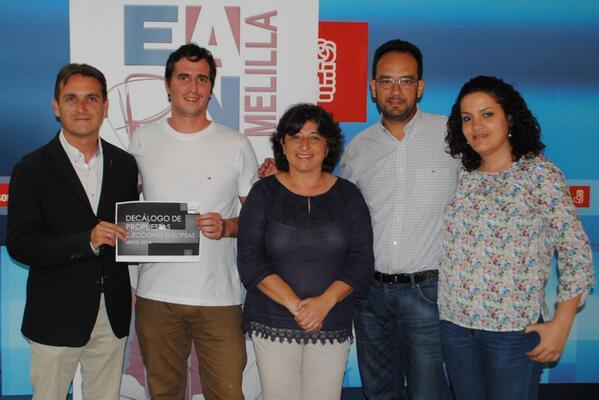Psoe de Melilla suscribe el decálogo de propuestas de EAPN