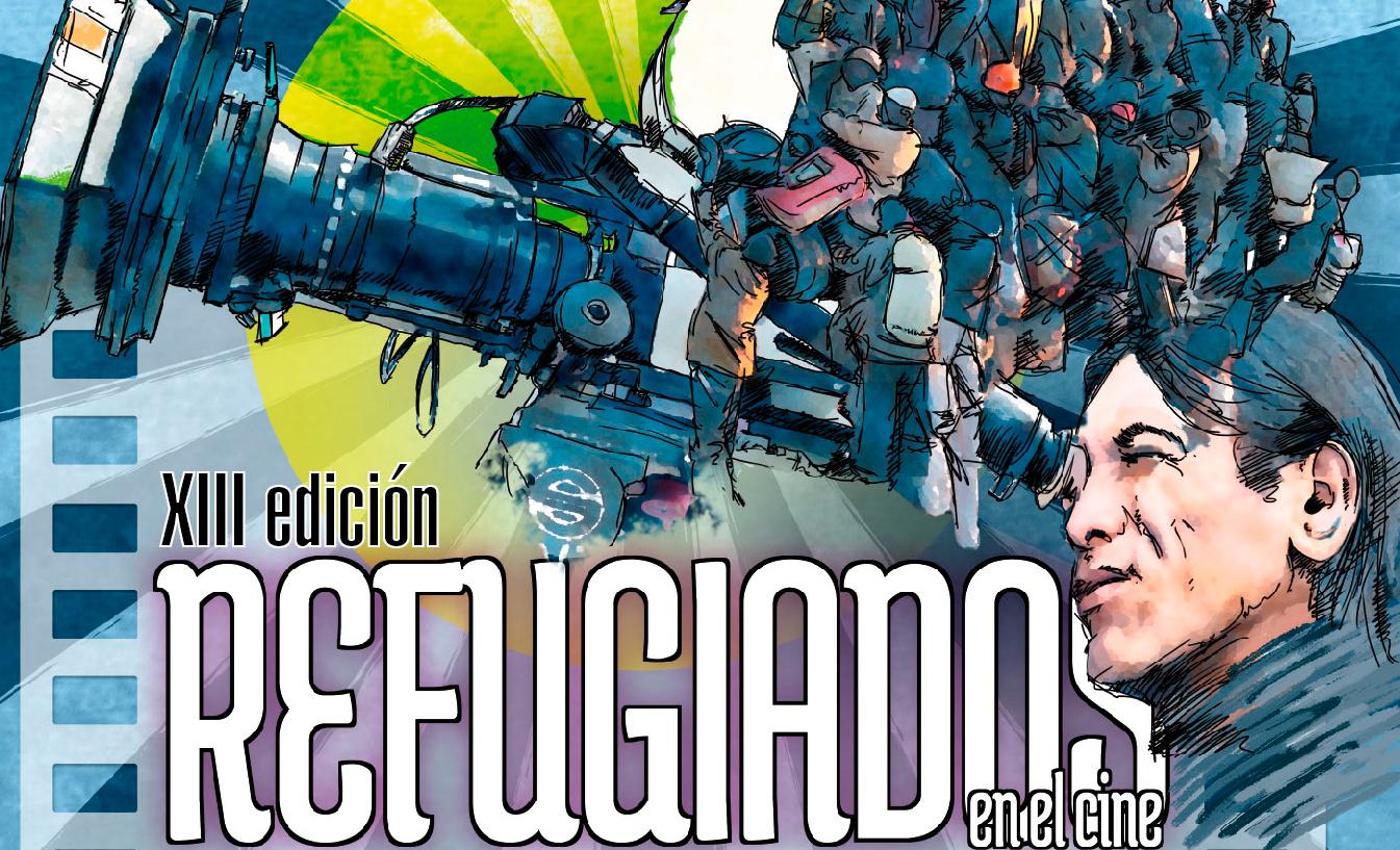 """Cartel de la XIII Edición de """"Refugiados en el Cine"""""""