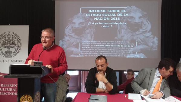 Carlos Susías en el Debate sobre el Estado Social de la Nación 2015