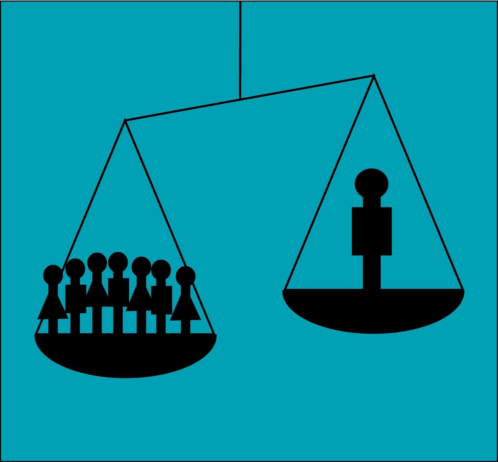 Gráfico que representa la desigualdad