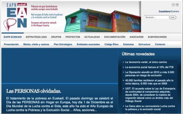 EAPN Euskadi Página web