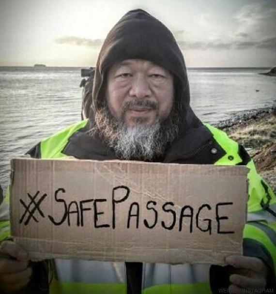 Ai Weiwei apoya la marcha por los derechos de los refugiados