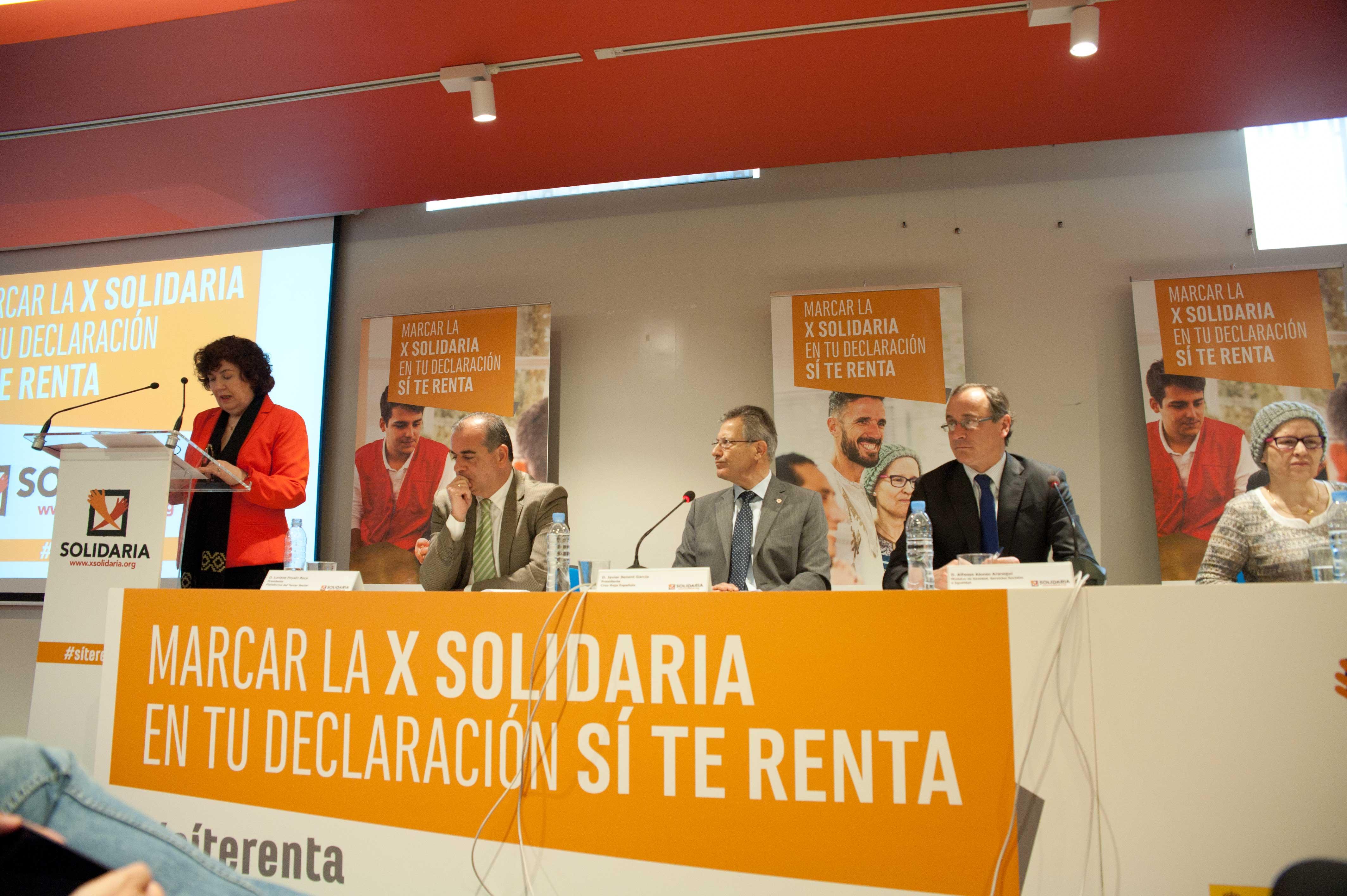 Mesa de presentación X Solidaria 2016