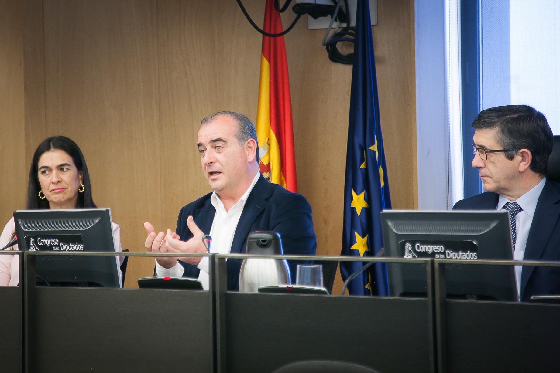 Luciano Poyato en el Congreso de los Diputados