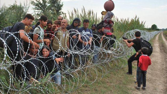 Refugiados en la frontera