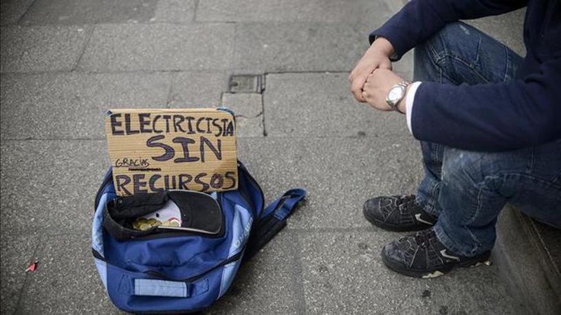 Persona sin recursos en la calle